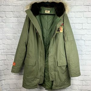 Juicy Couture 1977 Men's Army Green Utility Jacket